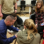 Club advisor helps students build turbine
