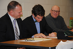 WVHS Senior Davis Brief signs letter
