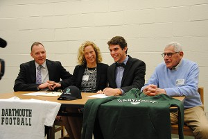 WVHS Senior Davis Brief signs National Letter of Intent for Dartmouth
