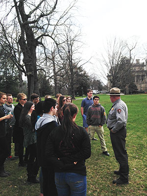 WVHS students visit FDR home in Hyde Park, NY