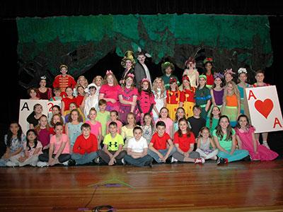 WVMS spring play, Alice in Wonderland, Jr.