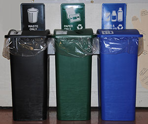 photo of recycling cans