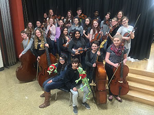 middle school orchestra students