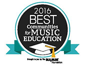 "logo for ""Best Communities for Music Education"""