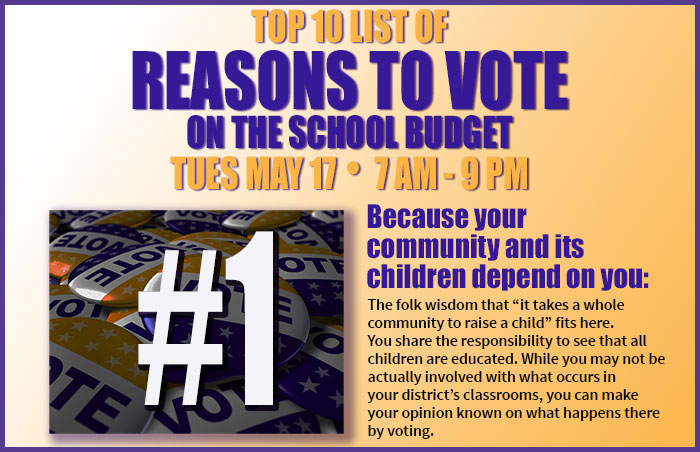 Reason #1 to vote on the school budget