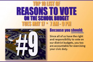 The #1 reason to vote on the school budget? Your community and its children depend on you!