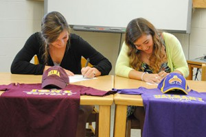 WVHS senior softball players sign college letters of intent