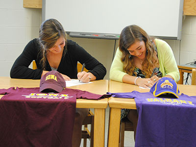 WVHS softball players sign college letters of intent