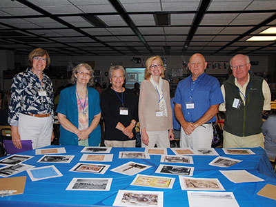 Members of the Warwick Historical Society pose for a group photo during a training on the use of historical records and artifacts in the classroom.