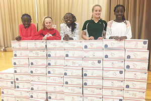Warwick elementary schools make holiday donation to our troops