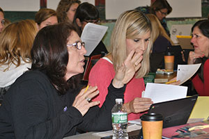 photo of teachers working together to brainstorm about the North Star