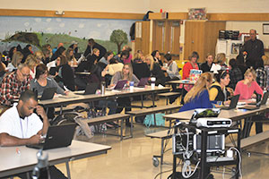 Teachers work to hone the District's North Star during a November Superintendent's Conference Day.
