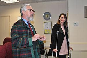Mayor Newhard announces winning symbols