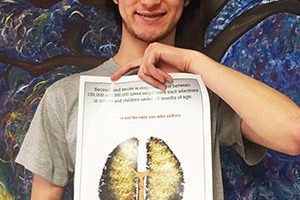 WVHS Senior recognized for smoking prevention poster design