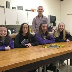 WVMS Green Team refurbishes wood table