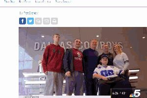Cowboys Help Inspiring Fan's Dream Come True