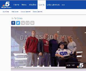 WVHS senior, Kyle LeDuc visits favorite football team