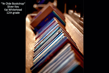 photograph of books on a shelf