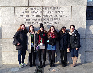 students in front of building in Washington, DC