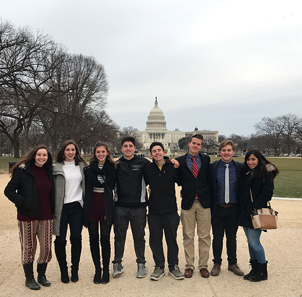 WVHS students in front of Capitol Building