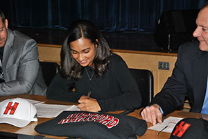 WVHS senior, Gaby Gamory signs letter of intent for Univ. of Hartford