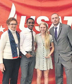Mary Onkin, Behailu Bekele-Arcuri, Megan Reilly and Mike Potter