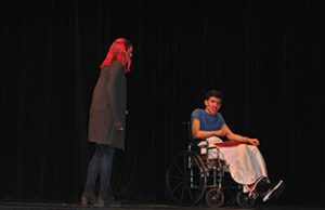 two students in the final act of the play