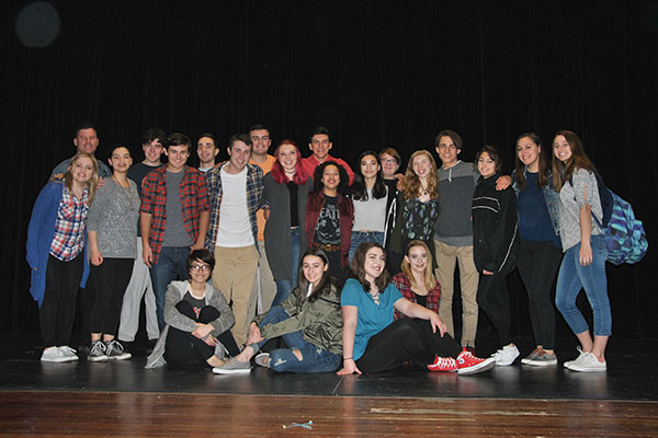 student cast members in group shot