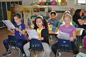 Park Avenue Students practice a song