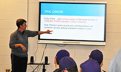 Chewing tobacco presentation for baseball players