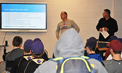 Chewing tobacco presentation for WVCSD baseball players