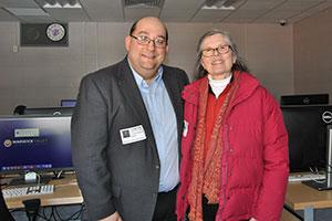 WVHS alum TJ Asprea speaks with former WVHS teacher, Betty Hurd
