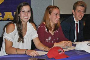 Three WVHS student athletes sign National Letters of Intent