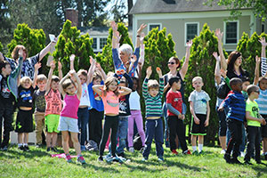 Warwick students at Arbor Day ceremony '17