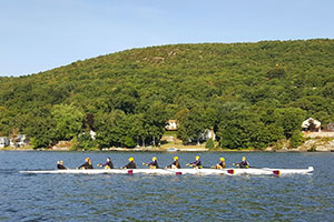 Warwick Crew team on the water