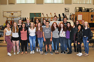 Student musicians recognized for acceptance & participation in honors ensembles