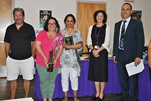 MS PTA VP, Sandy Singh. receives the Jodi Denmead PTA Award 2017