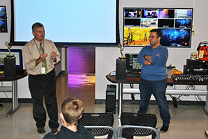 Alum Dan Rosado spoke with WVHS Communications students