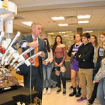 HS students check out surgical robot trainer