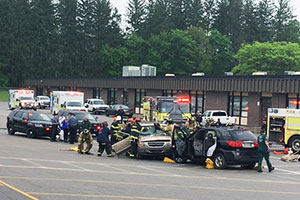 WVHS Mock Crash scene