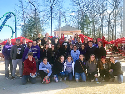 "WVHS Physics students at Six Flags ""Physics Day"" 2018"