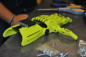 A nearly finished prosthetic hand