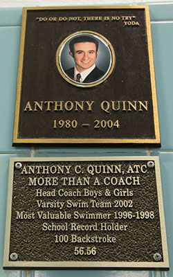 Anthony Quinn memorial plaque for HS pool