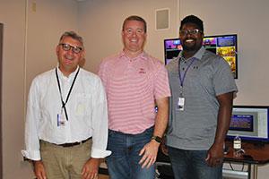 WVHS teacher Dan Cecconie, alum guest speaker, Brad Cheney, WVHS teacher Kirk Thomas