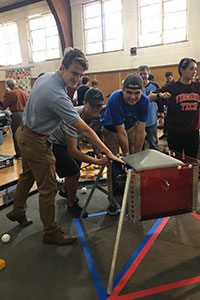 "WVHS ""First Tech Robotics"" team collaborate on projects"