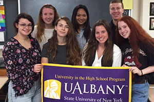 WVHS Science Research students spent their summer earning SUNY Albany credit