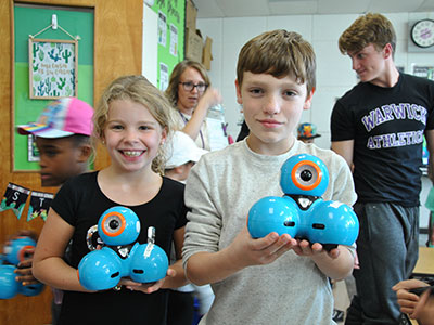 PA students worked on a robotics project.