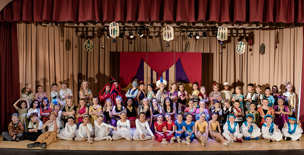 "Cast of ""Aladdin Kids"" at Park Avenue Elem."