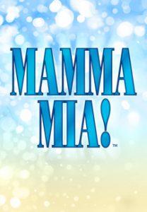 Mamma Mia! in blue letters