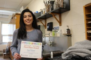 Alumnus Naya Vasquez wins first place in Safe Homes poster contest